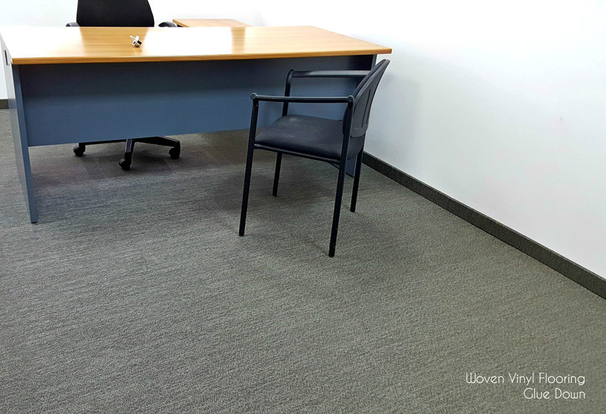 Woven Vinyl Flooring Glue Down