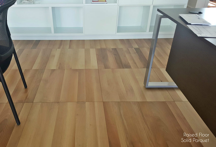 Raised Floor Solid Parquet